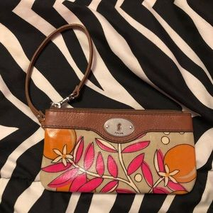 Fossil wristlet purse/wallet